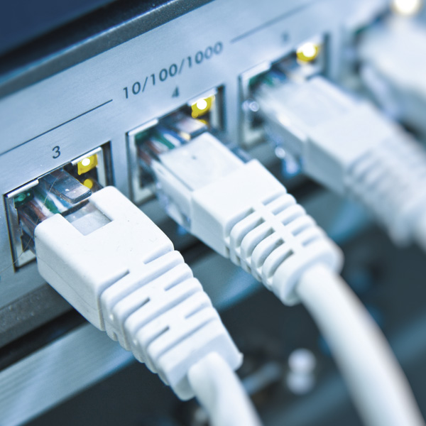 Image of network switch cables